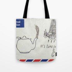 A Parisian, British Tea Tote Bag