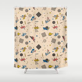 Memphis Inspired Pattern 9 Shower Curtain