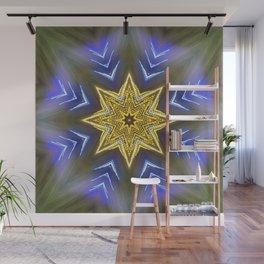 Glistening Golden Star Wall Mural