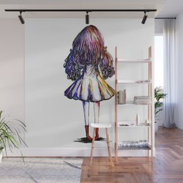 Faceless Girl and Red Doc Wall Mural