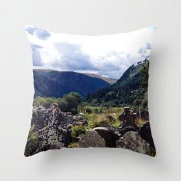 Glendalough, Ireland Throw Pillow