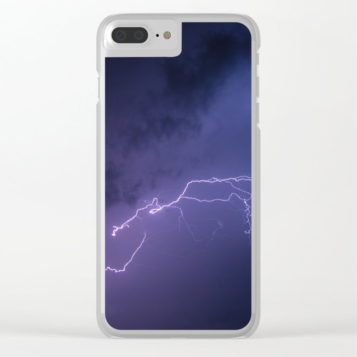 Volt out of the blue Clear iPhone Case