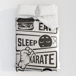 Eat Sleep Karate Repeat - Martial Arts Defence Comforters
