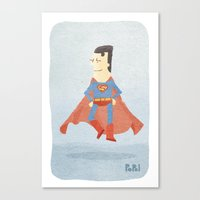 superman Canvas Prints featuring Superman by Popol