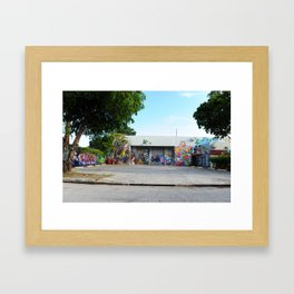 Colorful graffiti in Miami Framed Art Print