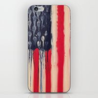 america iPhone & iPod Skins featuring America  by Matt Pecson