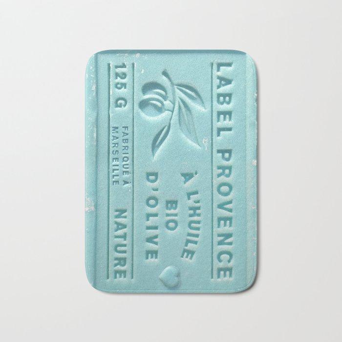 blue french marseille soap Bath Mat
