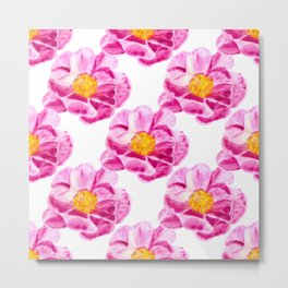 Seamless background with flowers Metal Print
