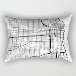 Chicago Map, USA - Black and White Rectangular Pillow