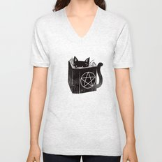 Witchcraft Cat Unisex V-Neck