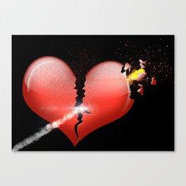 Heartbomb Canvas Print