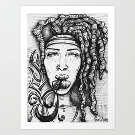 Trippy Hippy Art Print