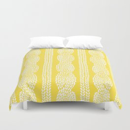 Cable Row Yellow Duvet Cover