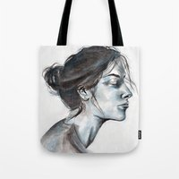lucy Tote Bags featuring Lucy by Chloe Gibb
