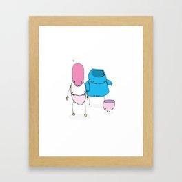 The Lizard Contingent Framed Art Print