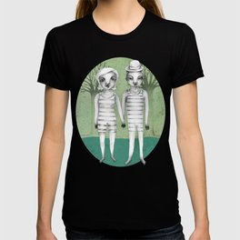 gymnast couple in the forest T-shirt