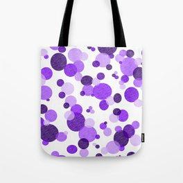 Purple Polka Tote Bag