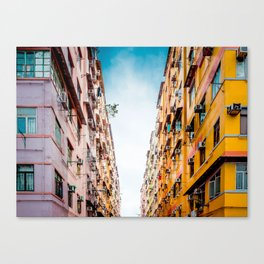Residential apartment in old district, Hong Kong Canvas Print