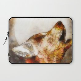 abstract howling wolf Laptop Sleeve