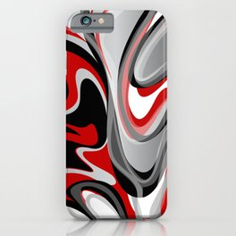 Liquify - Red, Gray, Black, White iPhone Case