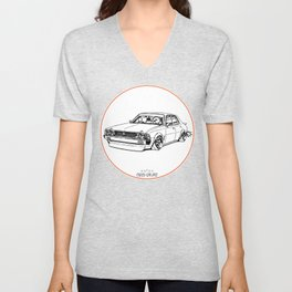 Crazy Car Art 0204 Unisex V-Neck