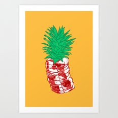 Pineapple meat Art Print
