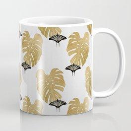 Botanical, Butterfly & Monstera Coffee Mug