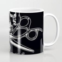 Shear Rock N Roll Studio Skull logo Coffee Mug
