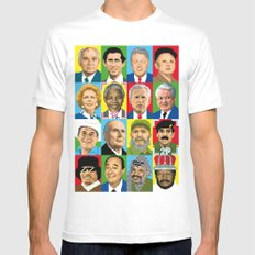 select your politic MEDIUM Mens Fitted Tee White