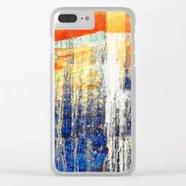 Golden Dawn, Abstract Landscape Art Clear iPhone Case