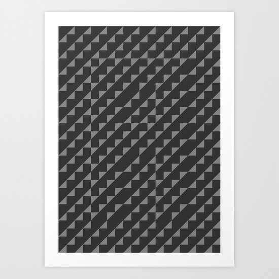 Typoptical Illusion A no.1 Art Print
