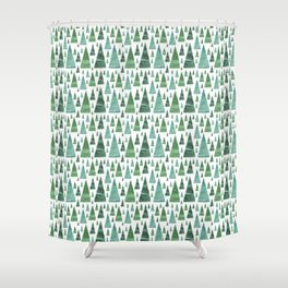 Firs and Christmas Trees Shower Curtain