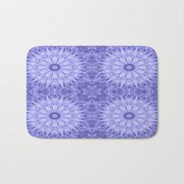 Periwinkle Crystal Mandala Pattern Bath Mat