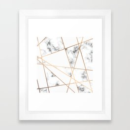 Marble Geometry 054 Framed Art Print