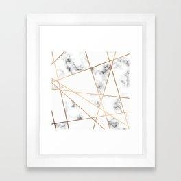 Marble Geometry 054 Framed Art Print