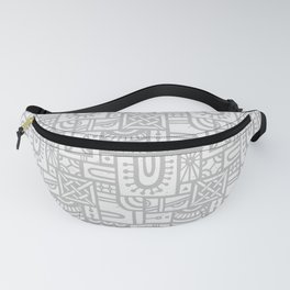 Arches Woodblock - (Grey) Fanny Pack
