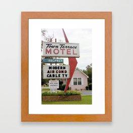 Town Terrace Framed Art Print