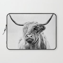 portrait of a highland cow - (vertical) Laptop Sleeve