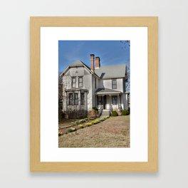 Cherokee Nation - The Historic Thompson House, built in 1882 Framed Art Print