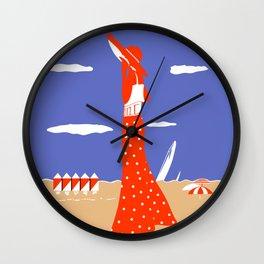 Saint Tropez Summer of 1927 Wall Clock