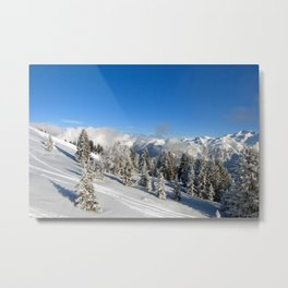 Courchevel 3 Valleys French Alps France Metal Print