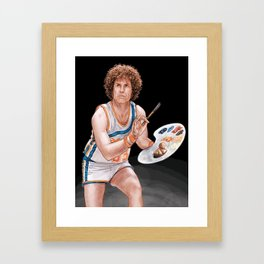 Jackie Moon, Owner Player Coach Framed Art Print