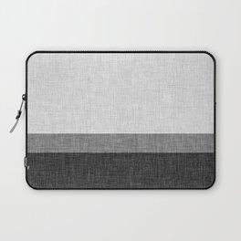 Black and White Graphic Burlap Pattern Stripe Laptop Sleeve