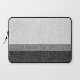Black and White Graphic Burlap Pattern Stripe Laptop Sleeve