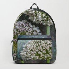 Three Allium Flowers Backpack
