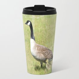 Canada Geese, Mother and Babies Travel Mug