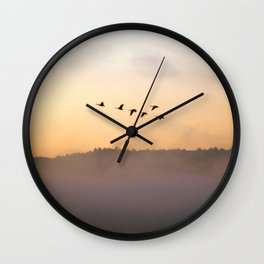 Summer's End in the Adirondacks Wall Clock