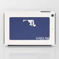 maryland iPad Cases featuring Maryland Minimalist Vintage Map by Finlay McNevin