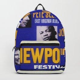 Rare 1960 2nd Year Newport Folk Festival Advertisement Poster Backpack