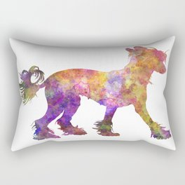 Chinese crested dog 01 in watercolor Rectangular Pillow